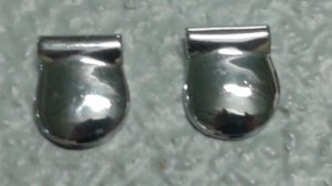2 escutcheons for rear wing cover for Jaguar XK
