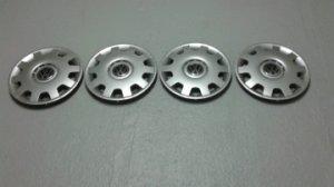 4 enjoliveurs de roue de diamètre 15 pour Volkswagen.