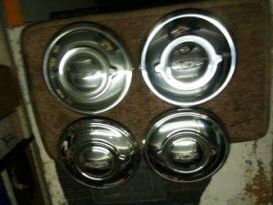4 enjoliveurs roues pleines pour JAGUAR XK 120, 140 et MK 7,8,9  TROP TARD VENDU !....