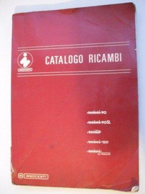 Catalogue de pièces de rechange pour  INNOCENTI  MINI 90, 90 SL, MILLE, MINI 120, MINI De Tomaso