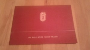 Catalogue publicitaire ROLLS ROYCE Silver Wraith datant de 1947 d'origine et d'époque