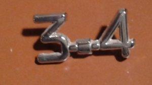 Emblème 3.4 pour JAGUAR sur le coffre arrière.VENDU