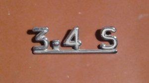 Emblème 3.4 S  pour JAGUAR sur le coffre arrière  VENDU