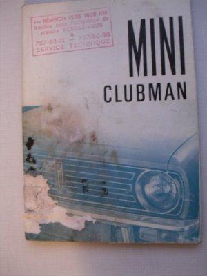 Guide d'entretien d'origine pour AUSTIN MINI CLUBMAN