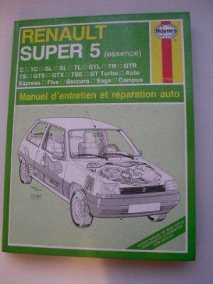 Manuel d'entretien et de réparation pour RENAULT SUPER 5  essence