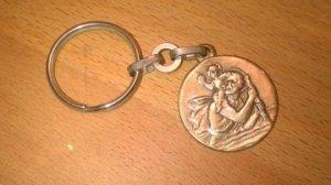 Porte-clefs   saint Christophe concessionnaire FIAT Clamart  (avant 2000)
