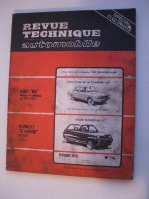 Revue Technique Automobile pour AUDI 100 de 1973 à 1978