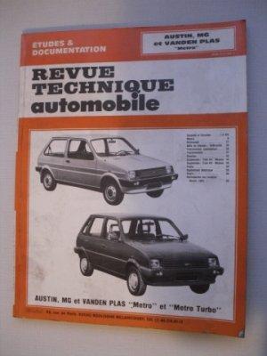 Revue Technique Automobile pour AUSTIN, MG et VAN DEN PLAS Métro et Métro Turbo