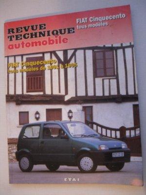 Revue Technique automobile pour FIAT CINQUECENTO de 1991 à 1995