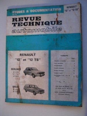 Revue Technique Automobile pour Renault 12 et 12TS