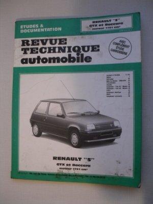 Revue Technique Automobile pour Renault 5 GTX et BACCARA
