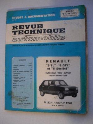 Revue Technique Automobile pour Renault 5 TL, GTL et Société depuis modèle 1980